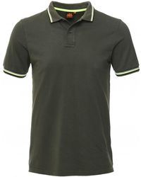 Sundek Cotton Pique Tipped Brice Polo Shirt - Green