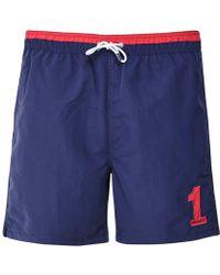 Hackett Classic Fit Volley Swim Shorts - Bleu