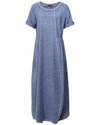 Oska Nelina Hemp & Organic Cotton Blend Dress - Bleu