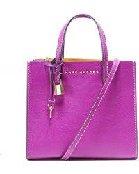 b65a1c973d5d Lyst - Marc Jacobs Mini Grind Pompom Satchel Bag