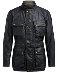 Belstaff Waxed Cotton Trialmaster Jacket - Noir