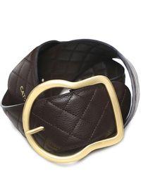 Dorothee Schumacher Soft Sensation Quilted Leather Belt - Brown