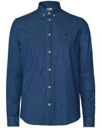 Les Deux Chambray Harper Shirt - Bleu