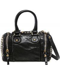 Campomaggi Studded Leather Bowling Bag - Noir