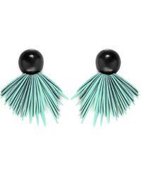 Monies Ebony Clip On Earrings - Bleu