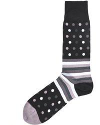Paul Smith Polka Dot Striped Socks - Noir