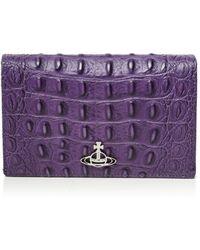 Vivienne Westwood Sofia Medium Leather Purse - Purple