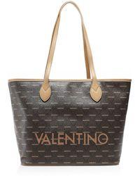 Valentino By Mario Valentino Liuto Logo Shopper Bag - Marron