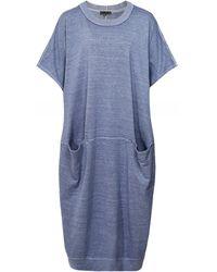 Oska Narve Hemp & Organic Cotton Blend Dress - Bleu