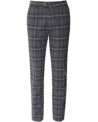 MMX Slim Fit Flannel Check Lupus Trousers - Gris