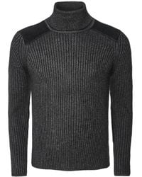 Schott Nyc Ribbed Roll Neck PL Yank4 Jumper - Gris