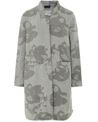 Oska Frow Floral Linen Jacket - Gris