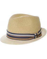 Stetson Toyo Straw Trilby Hat - Neutre