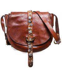 Campomaggi Small Studded Leather Shoulder Bag - Marron