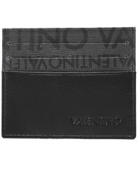Valentino By Mario Valentino Faux Leather Byron Card Holder - Black