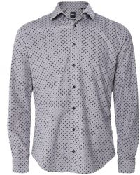 BOSS by Hugo Boss Slim Fit Corduroy Houndstooth Mypop_2 Shirt - Grey