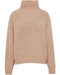 Anine Bing Sydney Funnel Neck Sweater - Natural