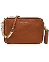 Michael Kors Ginny Leather Crossbody Bag - Brown