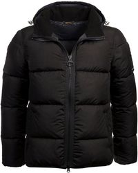 Barbour Fibre Down Quilted Soot Jacket - Black