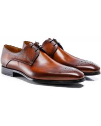 Magnanni Leather Thunder Derby Shoes - Marron