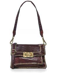 Campomaggi Medium Leather Studded Crossbody Bag - Multicolore