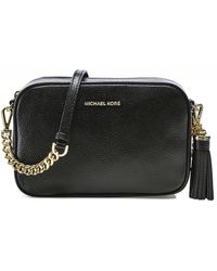 Michael Kors Mercer Pebble Crossbody Bag - Black