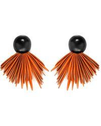 Monies Ebony Clip On Earrings - Orange