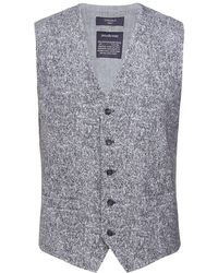Circolo 1901 Stretch Slim Fit Tweed Waistcoat - Gray