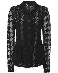 Rundholz Sheer Houndstooth Check Jacket - Black