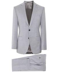 BOSS Slim Fit Virgin Wool Huge6/Genius5 Suit - Gris