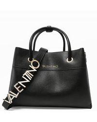Valentino Garavani Alexia Pebbled Shopper Bag - Black