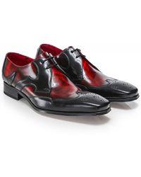Jeffery West Patent Leather Scaramanga Gibson Shoes - Noir