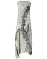 Crea Concept Linen Blend Wrap Detail Dress - Green