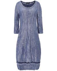 Grizas Linen & Silk 3/4 Sleeve Dress - Bleu