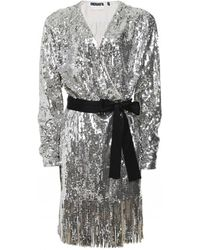 ROTATE BIRGER CHRISTENSEN Robe courte Samantha brodée de sequins - Métallisé