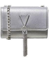 Valentino By Mario Valentino Divina Metallic Crossbody Bag - Métallisé