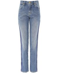 Victoria Beckham Cali Side Stripe Blue Jeans
