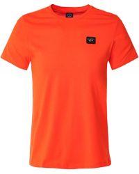 Paul & Shark Crew Neck Cotton T-Shirt - Orange
