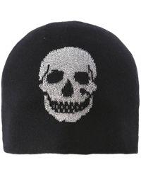 360cashmere Wool & Cashmere Brigit Skull Beanie Hat - Noir