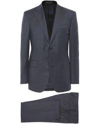 Corneliani Virgin Wool Pinstripe Suit - Gris