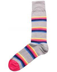 Paul Smith Lion Stripe Socks - Gris