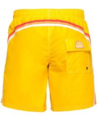 Sundek Short-length Swim Shorts - Yellow