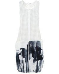 Crea Concept Exposed Zip Midi Dress - Blanc