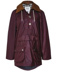 Barbour ALEXACHUNG Coco Waxed Cotton Jacket - Rouge