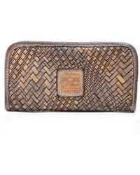 Campomaggi - Woven Leather Zip Around Purse - Lyst