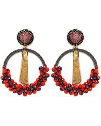 Uzurii Precious Hoop Earrings - Orange