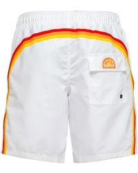 Sundek Mid-length Swim Shorts - White