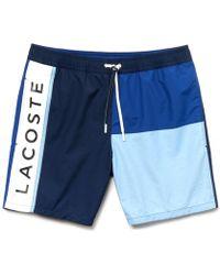 Colour Block Bleu Taffeta Swim Shorts vOy8PmNnw0