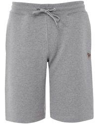 Paul Smith Organic Cotton Zebra Sweat Shorts - Gray