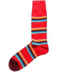 Paul Smith Lion Stripe Socks - Rouge